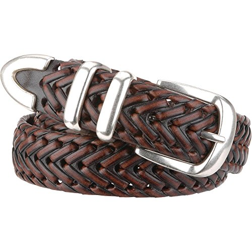 Wilsons Leather Mens Braided Leather Belt 40 Brown