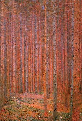 Pared Bosque Abeto KLIMT TANNENWALD I impresión de arte enmarcado 12x16