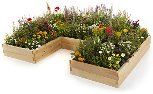 Naturalyards Raised Garden Bed, U-Shaped (Rustic Cedar, 3'x6'x9'x11'') by Naturalyards