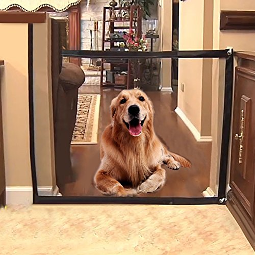 Pet Safety Enclosure, Pet Safety Gate - Magic Gate Portable Folding Safeguard Install Anywhere,Animals Favorite Pet Retractable Safety Gate