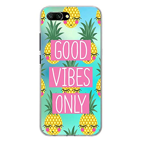 - Lovely Pineapple Transparent Frame Hard Phone Case Cover for Huawei Honor 8 9 Lite 10 10 Lite 6X 7X 7S 4C 6C Pro,07,for Honor 9