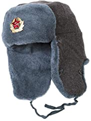 Authentic Soviet Army Soldier Ushanka Winter Hat. Unissued Military Surplus - Manufactured in Soviet Union in mid-late 80s.  These winter hats were made for Soviet soldiers to keep their heads warm even during the coldest days of Siberian win...