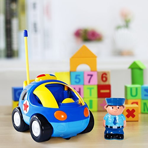 Toch Cartoon RC Race Car Train Toy for Kids Birthday Gift Present, Remote Control with Light Music Radio for Toddlers Baby Kids Child by Toch (Image #5)