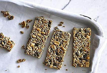 9 Bar Barrita de Cacahuete y Pasas Sin Gluten Vegano 50g Pack de 5: Amazon.es: Alimentación y bebidas