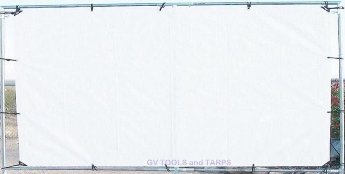 """10' x 16' Outdoor Hanging Home Theater Projection Movie Screen KIT ~ 1"""" Fitting"""