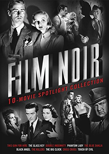 Film Noir 10-Movie Spotlight Collection (Double Indemnity / Touch of Evil / This Gun for Hire / The Glass Key / Phantom Lady / The Blue Dahlia / Black Angel - George Lake Outlet