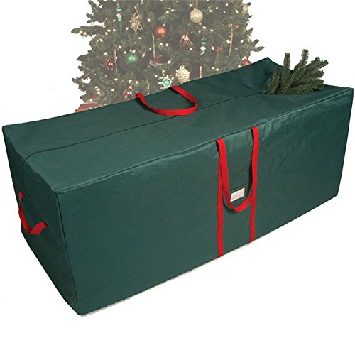 (Heavy Duty Waterproof Holiday Tree Storage Bag Wreath Christmas Tree Decoration Accessories Storage Bag Tote Case to fit Artificial Trees Up to 59 Inch)