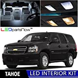 LEDpartsNow 2007-2014 Chevy Tahoe and Suburban LED Interior Lights Accessories Replacement Package Kit (15 Pieces), WHITE +TOOL