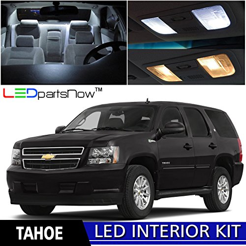 Chevy Suburban Ltz (LEDpartsNow 2007-2014 Chevy Tahoe and Suburban LED Interior Lights Accessories Replacement Package Kit (15 Pieces), WHITE)