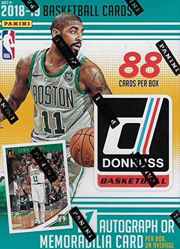2018 2019 Donruss NBA Basketball Box with One AUTOGRAPH or MEMORABILIA Card Per Unopened Blaster Box of Packs Possible Rookies and Stars