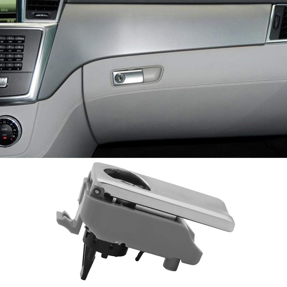 Everpert Glove Box Lid Handle with Lock Hole for Mercedes-Benz ML//GL//GLE Class W166 Black