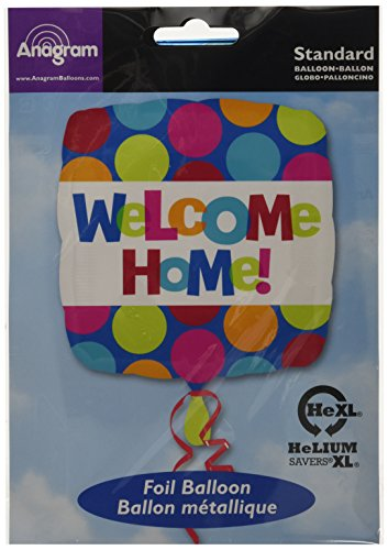 Amscan International 18-inch Welcome Home Balloon 18' Square Mylar Balloon