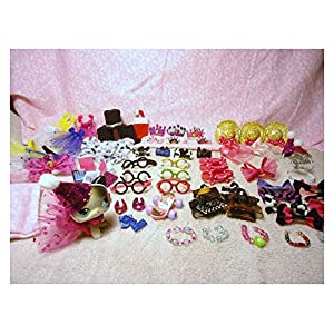 Littlest Pet Shop LPS 19 Random Accessories Clothes Lot of 19 Custom Made No Pet