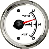 SEAWELL Kus Boat Yacht Trim Gauge Marine Trim Tilt Indicator for Outboard Engine 52mm 12/24V (White)