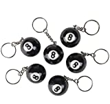 1.25'' EIGHT BALL KEYCHAIN, Case of 18