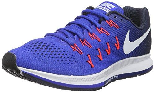 Nike Herren Air Zoom Pegasus 33 Laufschuhe Azul (Racer Blue / White-midnight Navy-blue Glow)