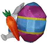 4 ft. Airblown Easter Bunny Inflatable - Yard Decoration