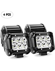 """Deal on Nilight 2PCS 18W 1260lm Spot Driving Fog Light Off Road Led Lights Bar Mounting Bracket for SUV Boat 4"""" Jeep Lamp,2 years Warranty 4pcs 18w Spot light Black. Discount applied in price displayed."""