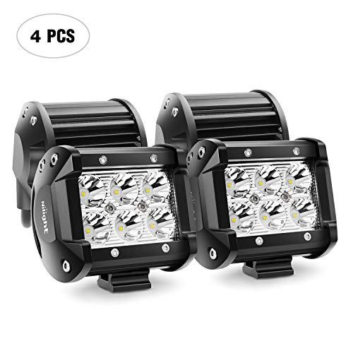 - LED Light Bar Nilight 4PCS 18W 1260lm Spot led pods Driving Fog Light Off Road Lights Bar Jeep Lamp,2 years Warranty