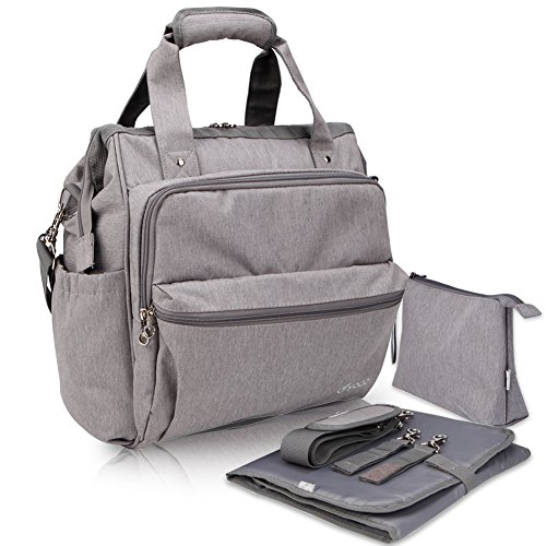 Yodo Convertible Baby Diaper Bag with Stroller Straps and
