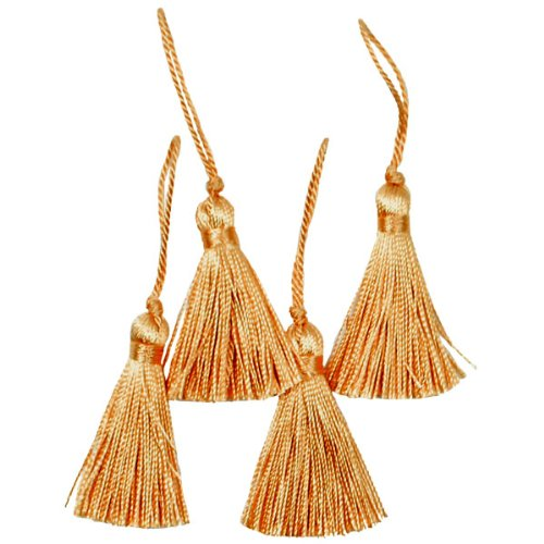 Expo Mini Fiber Tassel, Gold, 4-Pack