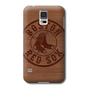 S5 Case, MLB - Boston Red Sox Engraved - Samsung Galaxy S5 Case - High Quality PC Case