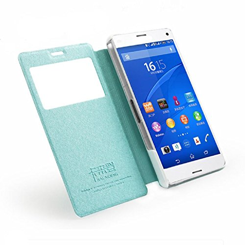Coromose View Window Flip Case for Sony Xperia Z3 Mini Compact (Blue)