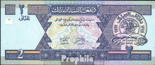 billetes para coleccionistas: Afganistán Pick-No.: 65a unc 2002 2 Afghanis Prophila