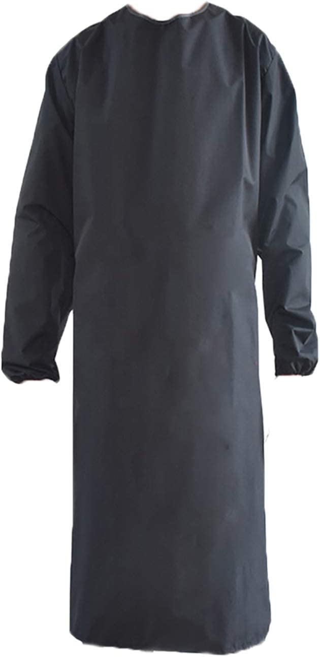 Waterproof Apron Sleeves,Black work shop Aprons for Lab Work,Cleaning M08BLA