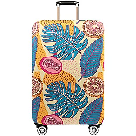 TICKRAN Luggage Cover,Design Travel Suitcase Protector Elastic Sleeve Cover Anti-Scratch Luggage Cover Fits 18 to 32 Inch Luggage,G,S