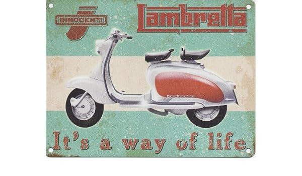 Lambretta Way of Life Esmalte de Metal Cartel Publicidad, Klein 200mm X 150mm: Amazon.es: Hogar