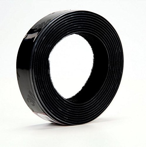 - 3M Fastener TB3571/TB3572 Hook/Loop Black, 1 in (25.4mm) x 10 ft (3.05m) (1 Mated Strip/Bag)
