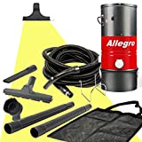 Allegro MU3100 Wall Mounted Garage and Car Vacuum with 50 Ft. Hose and Tools