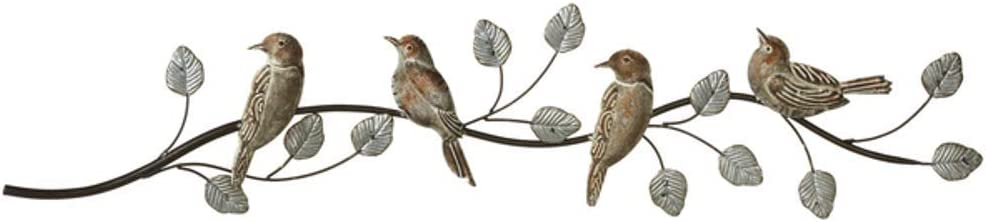 MIDWEST-CBK Ganz Galvanized Patina Birds on Branch Wall Decor