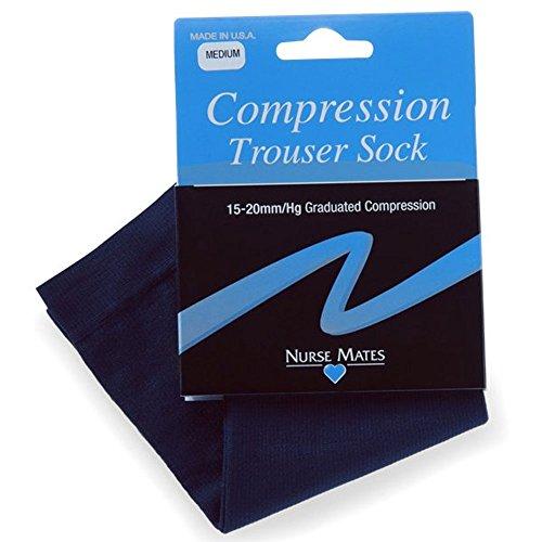 Nurse Mates Graduated Compression 15-20 mmHg Navy Trouser Socks (Large fits shoe sizes 8.5 - 11) from Nurse Mates