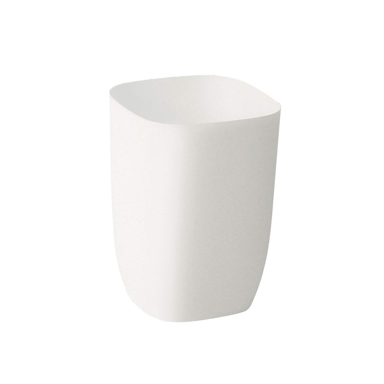 mingol Small White Garbage Can for Bathroom, Bedroom, Kitchen, Slim Cute Plastic Waste Basket for Office, 7L, Matt