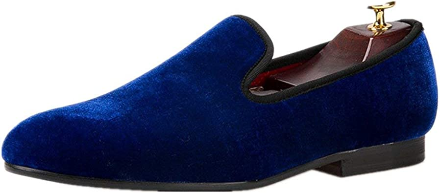 Men Casual Shoes Canvas Loafers Slip On Mens Flat Shoes Blue 13 M US