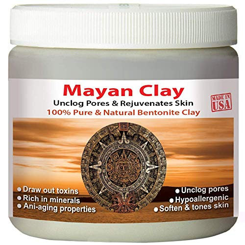Mayan Secret - Indian Healing Clay - Deep Pore Cleansing Facial & Healing Body Mask | The Original 100% Natural Calcium Bentonite Clay (4 oz (Travel size))