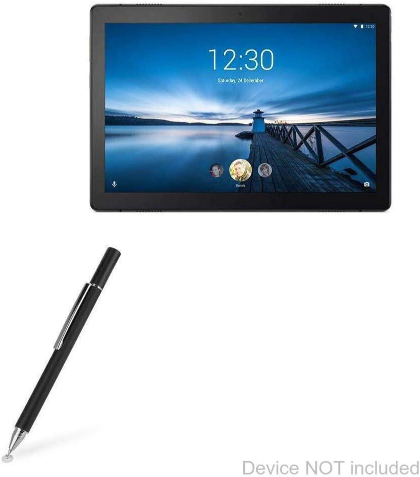 Lenovo Tab M10 Stylus Pen, BoxWave [FineTouch Capacitive Stylus] Super Precise Stylus Pen for Lenovo Tab M10 - Jet Black