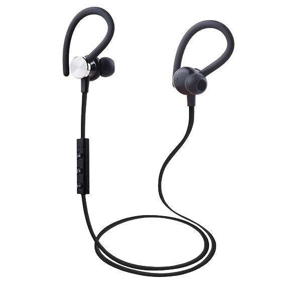 Amazon.com : Argom Tech Ultimate Sound EDGE Wireless Bluetooth Earphones Ergonomic and Sweat Resistant BLACK/WHITE/PINK (Black) : Sports & Outdoors