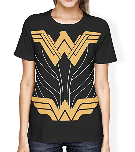 Miracle Wonder Woman Costume Shirt - Women's Black T-Shirt Justice League Wonder Woman (XX-Large)
