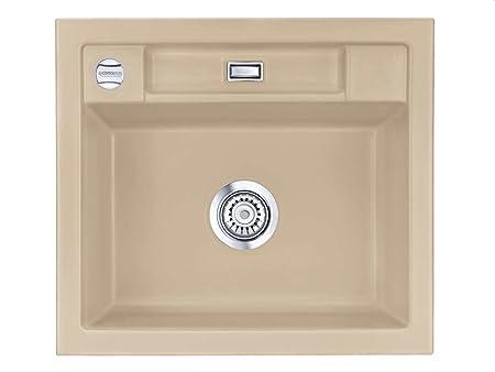 Kera Domo Bela 57 In Sand With Strainer Systemceram Ceramic Sink