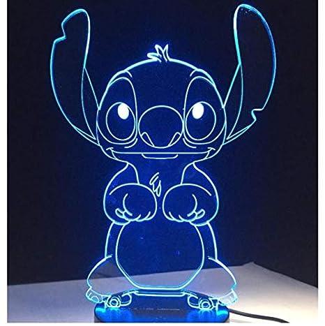 Patrick Star Stitch Conejo Acrílico 7 Colores Escritorio de ...