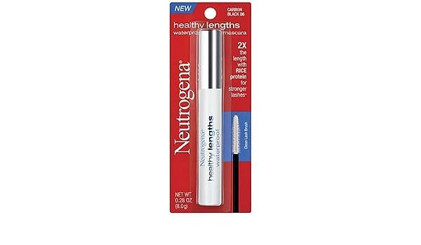 Amazon.com : Neutrogena Healthy Lengths Mascara Waterproof Carbon Black (2-pack) : Beauty