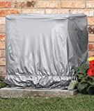Trenton Gifts Square Ground Air Conditioner Unit Cover | for Outdoor Central Air Units