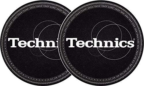 Slipmat della Factory Technics strobo Nero Argento Slipmat 2/pezzi