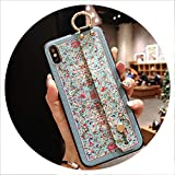 Wrist Strap Soft TPU Phone Case for Samsung Galaxy S10 S9 S8 Plus Note 8 9 Cases Vintage Flower Leopard Print Holder Cover,P22,Note9