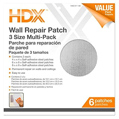 HDX 4, 6, 8 in. Multi Pro-Pack Wall Repair Patches