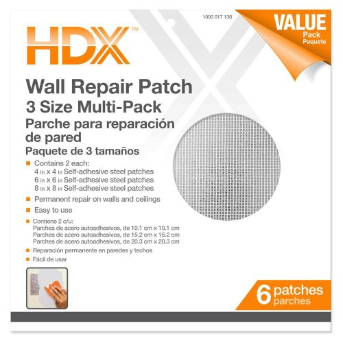 Pack Drywall (HDX 4, 6, 8 in. Multi Pro-Pack Wall Repair Patches)