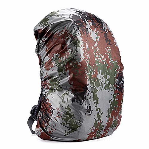 Easyhon 35L-80L Waterproof Backpack Rain Cover Rucksack Water Resist Cover for Hiking Camping Traveling (Gray,XL(for 60-70L Backpack))